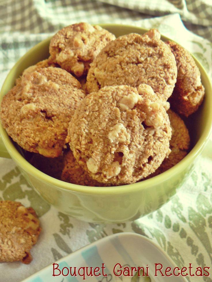 Cookies de avena, coco y chocolate blanco. Soft and Chewy White Chocolate Coconut Cookies by Bouquet Garni Recetas