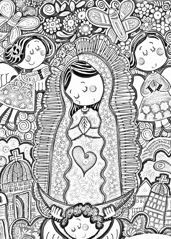Our Lady Of Guadalupe Coloring Page Awesome Barroca Virgen De Guadalupe Distroller In 2020 Catholic Coloring Coloring Pages Coloring Books