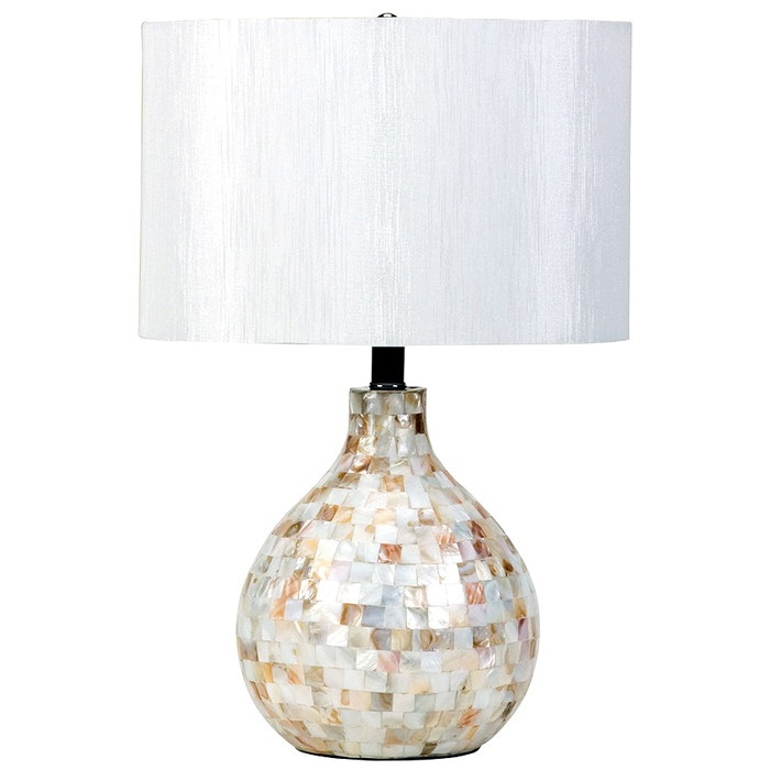 Capiz shell table lamp