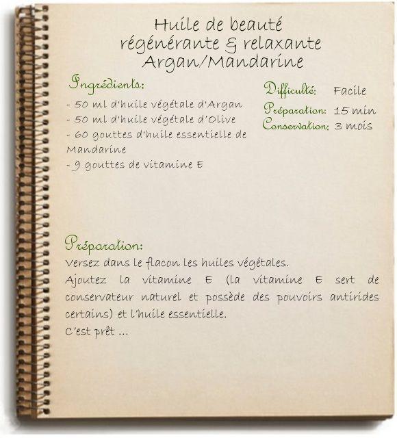 HUILE DE BEAUTÉ RÉGÉNÉRANTE RELAXANTE ARGAN / MANDARINE