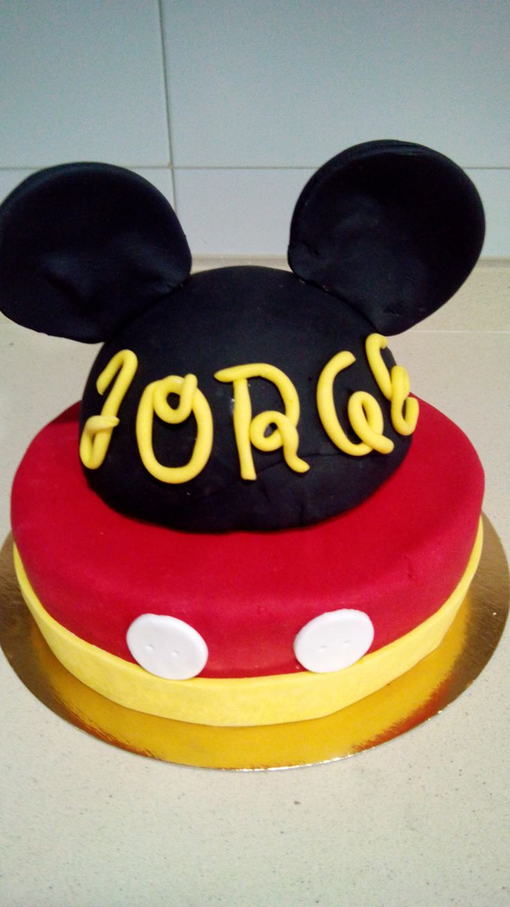 Tarta Mickey Mouse - midulcereposteria.es
