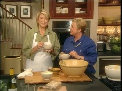 Martha Stewart and Patricia Wells make Pistou Soup, a recipe from Patricia's cookbook.