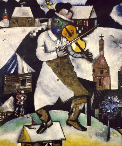 Marc Chagall, The Fiddler, 1912-13 on ArtStack #marc-chagall #art