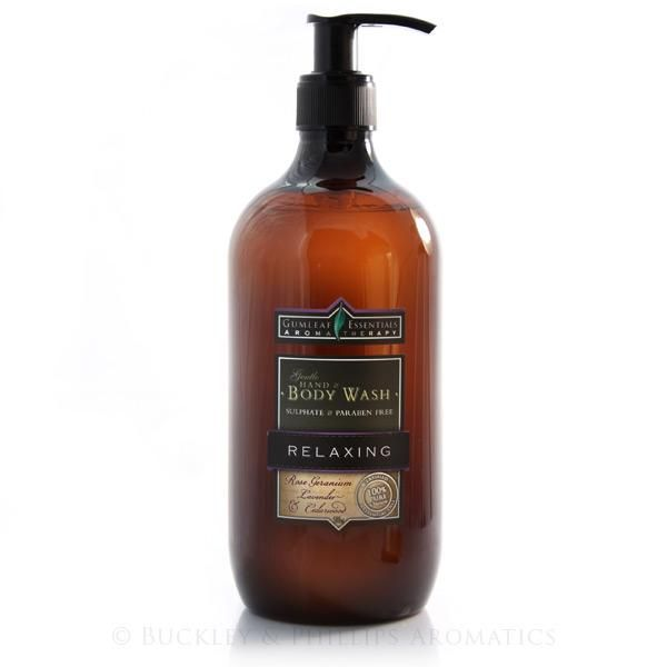 Gumleaf Essentials RELAXING Hand & Body Wash. Completely natural ingredients - sulphate & paraben free.