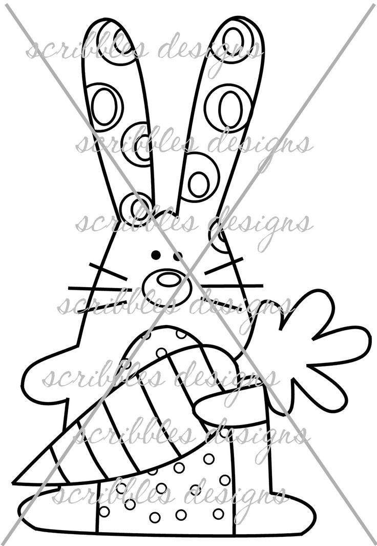 $3.00 Hoppy 2 (http://buyscribblesdesigns.blogspot.ca/2014/03/425-hoppy-2-300.html) #digital stamps #digis #bunny #Easter #carrot #scribbles designs