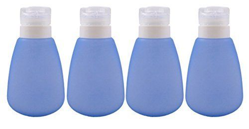 TSA Approved Carry On Sized Leak Proof BPA Free Travel Bottle (4 Pack) Travel Bottle Kits for Shampoo Lotion and More Approved for Flying Refillable Travel Bottles Leak Proof Travel Bottles
