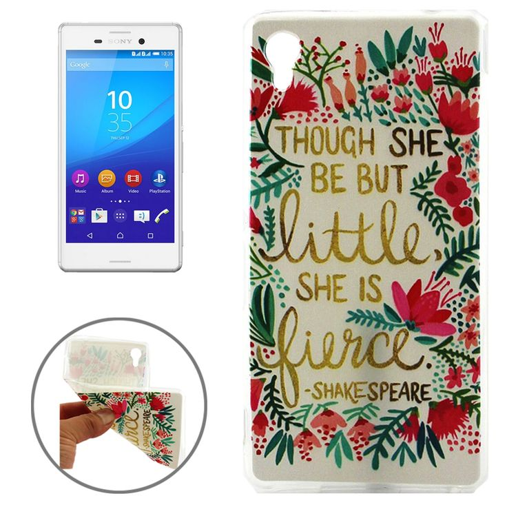 Flowers and Words Pattern TPU Case for Sony Xperia M4 Aqua Protetive Cover-in Phone Bags & Cases from Phones & Telecommunications on Aliexpress.com | Alibaba Group