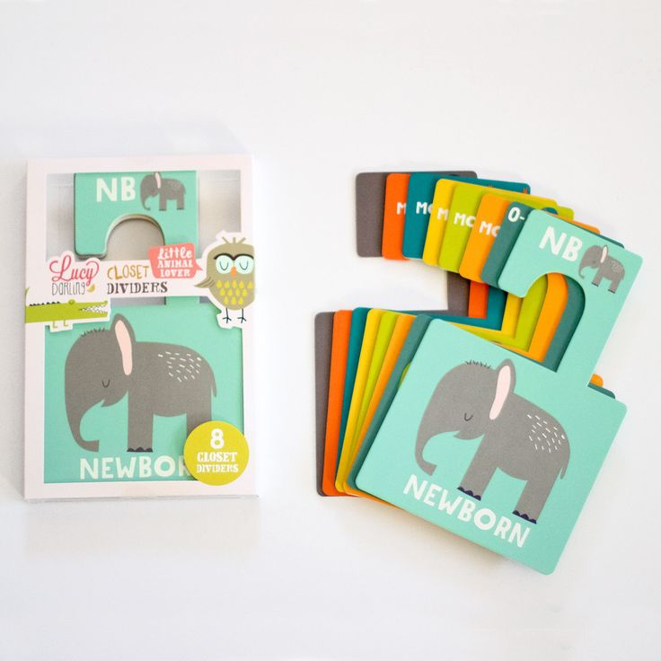 Nursery Closet Dividers for a Baby Boy - adorable and so useful!