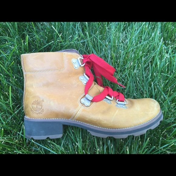 MASSIVE SALE! Timberland Boots On sale from $90! Rare Vintage Timberland boots with red laces! Worn twice.  Reasonable offers accepted. Last picture are Danner boots which are in style right now and retail for about $330! The pair I am selling are authentic timberlands! Timberland Shoes Ankle Boots & Booties