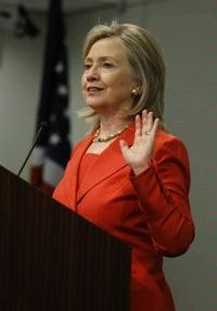 """Ruth says, """"Hillary Clinton. Former First Lady. Dedicated her life to politics, with health care being one of her main focuses. Wife & mother. Her book 'It Takes a Village' is a fabulous little thought provoker too."""""""