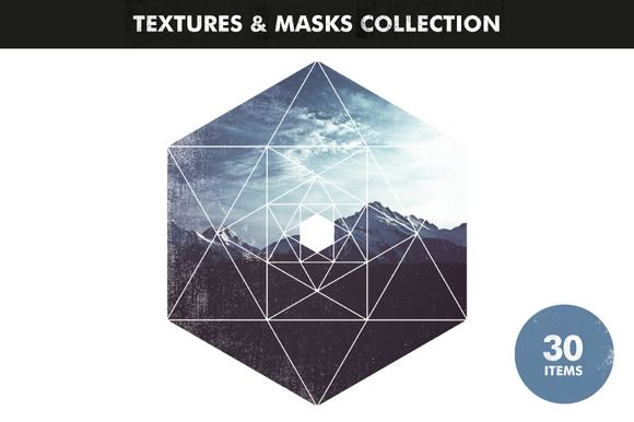 Textures & Image Masks Collection by Offset on Creative Market
