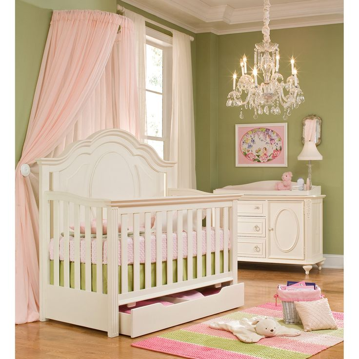 LOVE!! This set is so beautiful!! Want to have this for my baby girl. Legacy Classics Enchantment 4-in-1 Convertible Crib Collection $1640...includes crib, extra storage drawer, dresser, and changing top