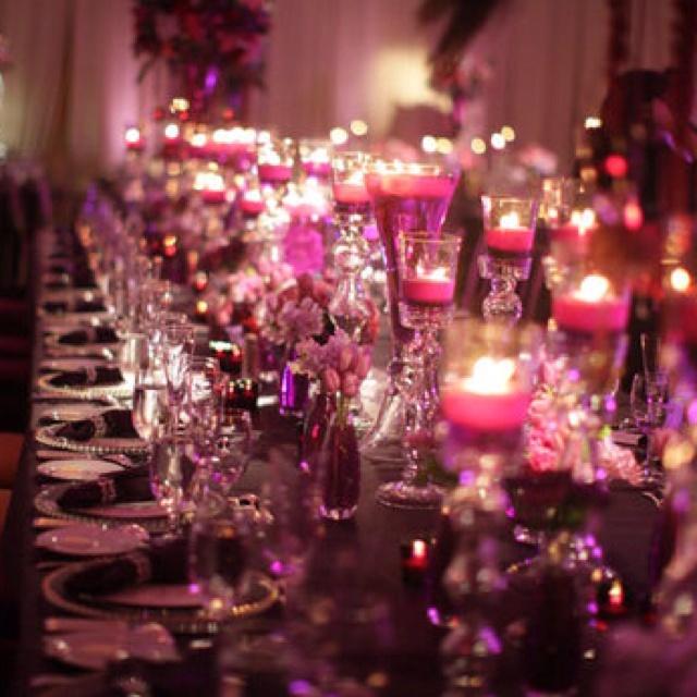 Romantic Purple Wedding Decor