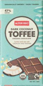 dark chocolate coconut toffee 80g Julias favourite!!