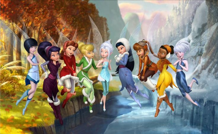 tinkerbell's friends | ... Tinkerbell and all her friends, including the newest fairy Periwinkle