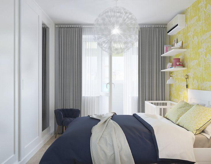 Фотография: Спальня в стиле Скандинавский, Малогабаритная квартира, Квартира, Проект недели, Перепланировка, Москва, Никита Зуб – фото на InMyRoom.ru
