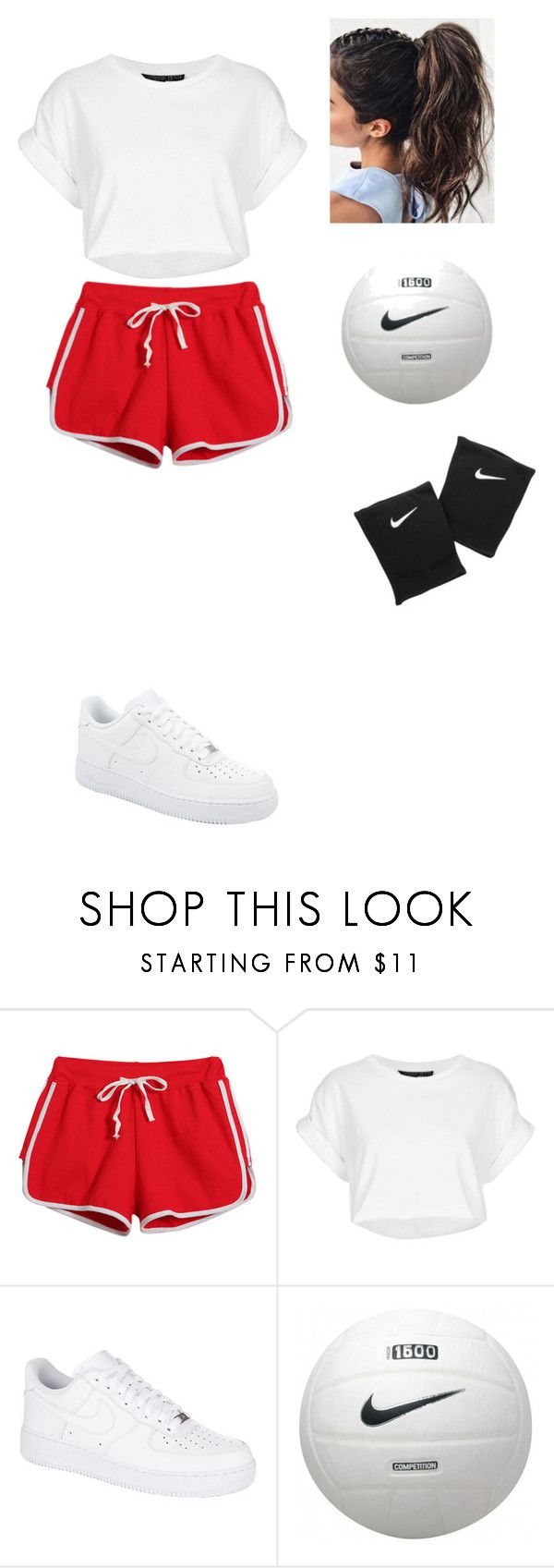 """""""Volleyball"""" by ericanunes on Polyvore featuring Chicnova Fashion, NIKE and Topshop"""