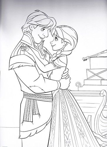 Coloring Pages Disney Princess Frozen : 211 best colouring for the girls images on pinterest
