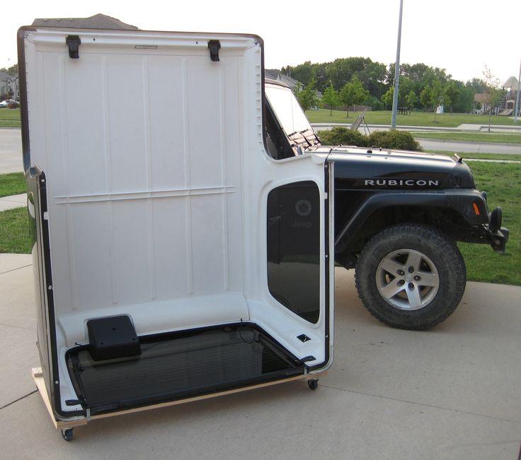 tj lj yj hardtop storage cart vehicles i helped build. Black Bedroom Furniture Sets. Home Design Ideas