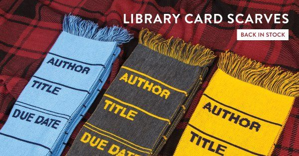 Check out (hee!) the library scarves back in the Book Riot Store!
