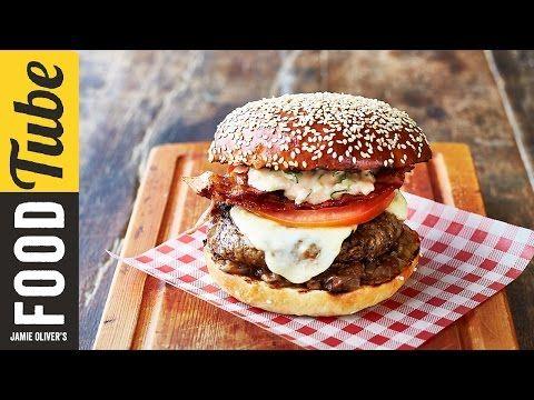 Jamie's Italian Burger   Jamie Oliver & Gennaro Contaldo - YouTube