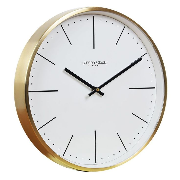 Brushed Gold Wall Clock - Quince Living
