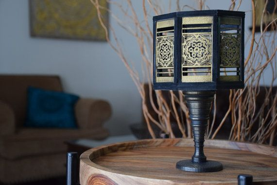 Handmade Black and Gold Octagon Vase by ThadamCreativeDesign