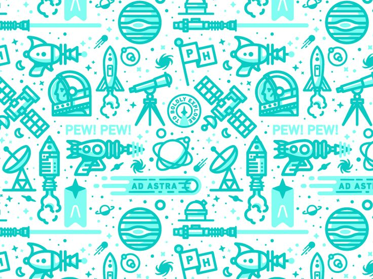 Dribbble - Ad Astra Pattern - via #designhunt