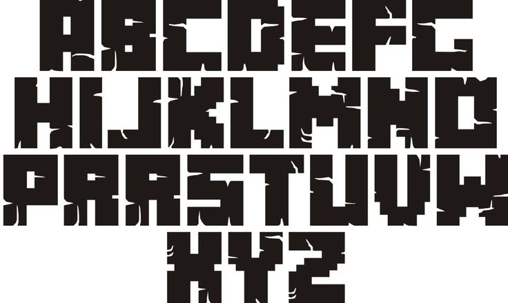 MINECRAFT LETTERS AND FONT FOR YOUR WALL ART PERSONALIZED WITH YOUR NAME PIXEL WORDS