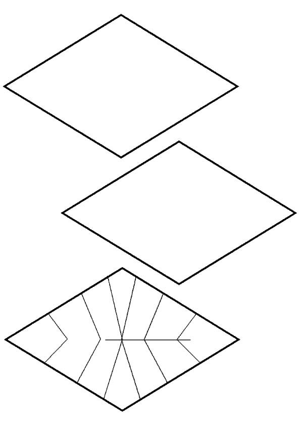 Diamond Shape Diamond Shape Design Coloring Pages