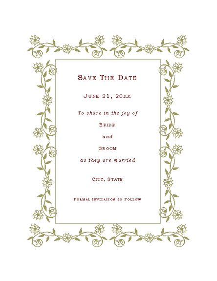 microsoft save the date templates free save the date templates for