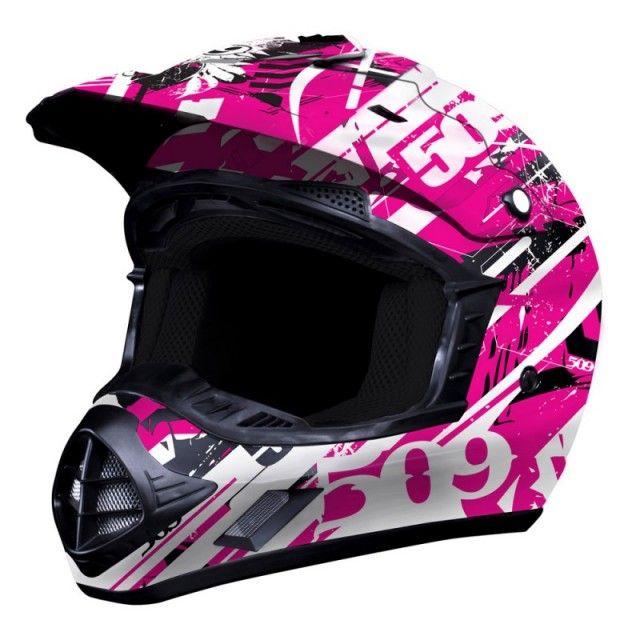 2013 509 Films Evolution Pink Splash Snocross Snowmobile Helmet | Snow