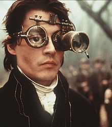 "Depp as Ichabod Crane in the movie ""Sleepy Hollow"" based on the book ""The Legend of Sleepy Hollow"" by Washington Irving."