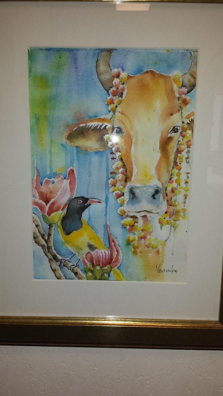 Veronica Yngwe, akvarell