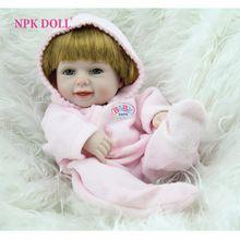 NPKDOLL Reborn Baby Doll Full Silicone Vinyl Body Girl Doll Mini 10 inches Fashion Kids Toys Hobbies(China (Mainland))