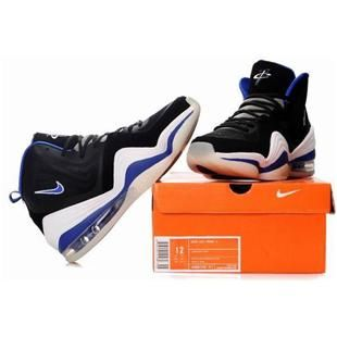 http://www.asneakers4u.com/ Nike Air Penny 5 Penny Hardaway Shoes Black/Blue/White Sale Price: $68.30