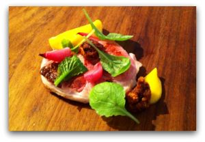 Pork with swede puree and pickled onion:) http://www.takeyourthyme.se
