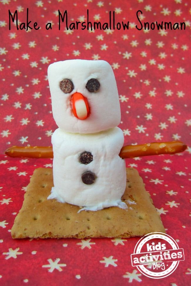 Edible Crafts For Kids To Make Part - 26: Loving This Marshmallow Snowman Idea! Such A Fun Edible Christmas Craft For  Kids To Make