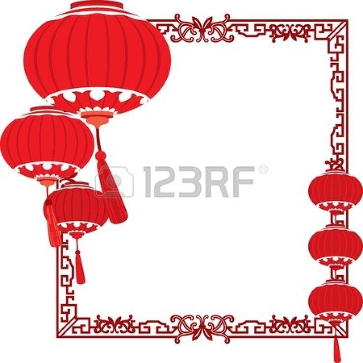 Linternas rojas decoraciones chinas photo