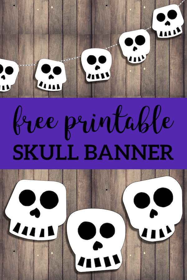 Halloween Skull Decorations.Free Printable Halloween Skull Decoration Banner Paper Trail Design Halloween Skull Decorations Halloween Banner Skull Decor