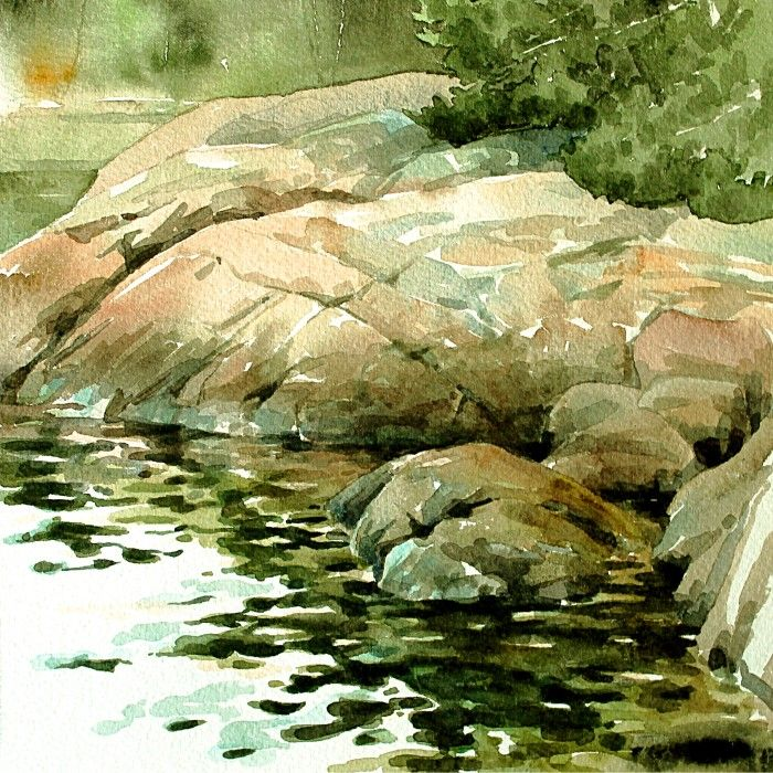 """One of my latest paintings: """"The archipelago waking up""""."""