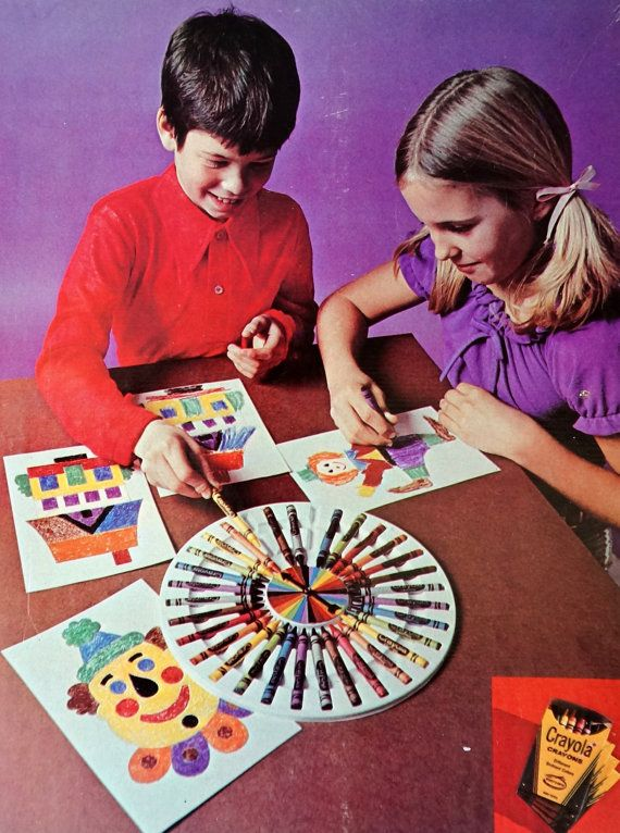 Crayola Crayon Color Wheel Drawing Game 1974 by AttysSproutVintage