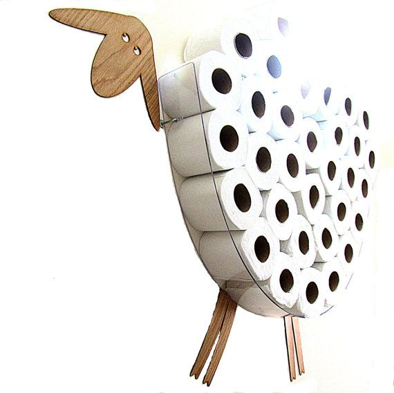 SHEEP-shelf a wall shelf for storage of toilet paper by AntGl