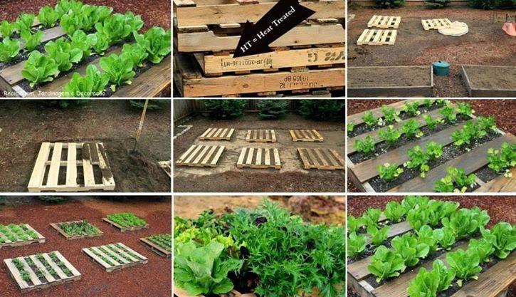 Jardin con tarimas o palets paso a 725 417 for Ideas con palets para jardin