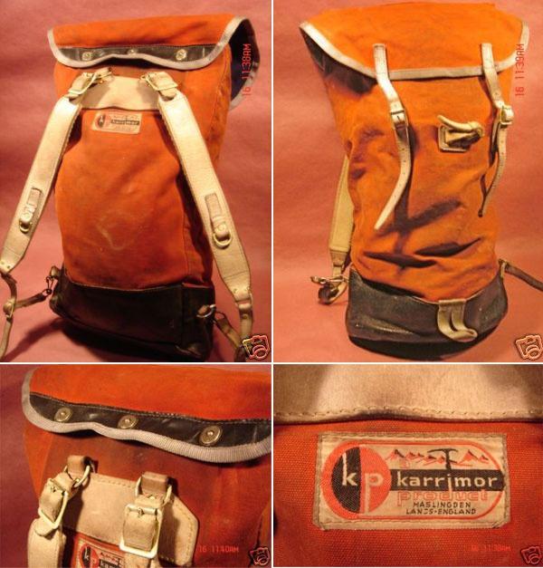 Vintage Karrimor 'Alpiniste' 1970's canvas rucksack