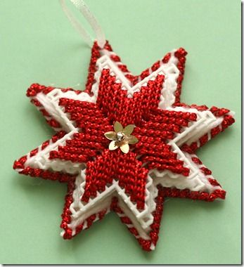 Handmade Star Ornaments #Christmas