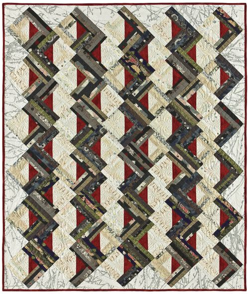 Zig Zag logs strip-pieced quilt pattern. :: CABIN FEVER! Pinterest Something new, Teaching ...