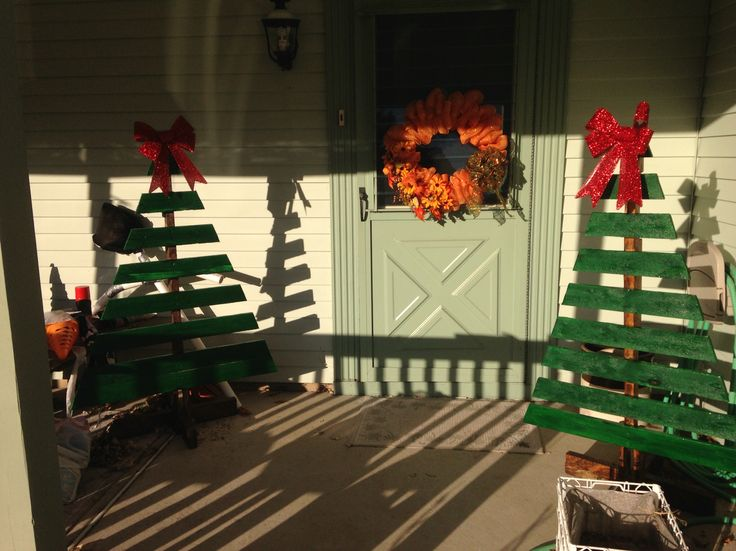 Completed pallet trees