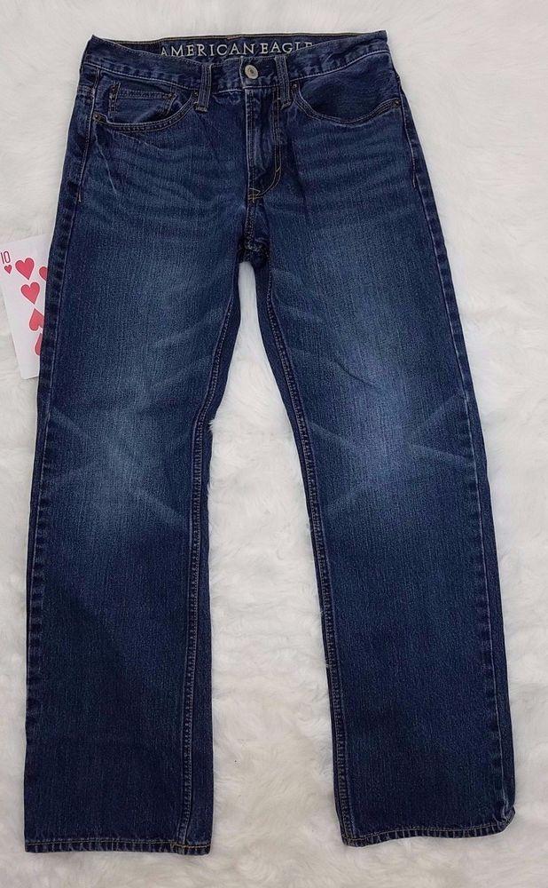 American Eagle Womens Jeans Size 28/30 Denim Medium Blue Wash Boot Cut 100% Cott #AmericanEagleOutfitters #BootCut