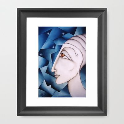 The Oracle Oil on Canvas 2013  Framed Art Print by SimonaMereuArt - $45.00